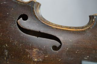 Antique German Or French Violin Coffin Case 19th Century W/ Bow For Restoration photo