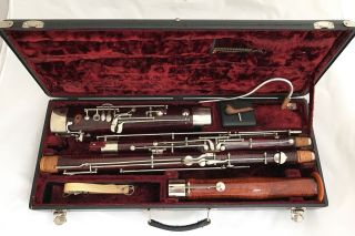 Antique Historical German Bassoon Probably Heckel Biebrich Or Mollenhauer photo