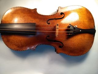 Old Antique Violin - Labelled Anto.  Polluska,  Roma,  1754 photo