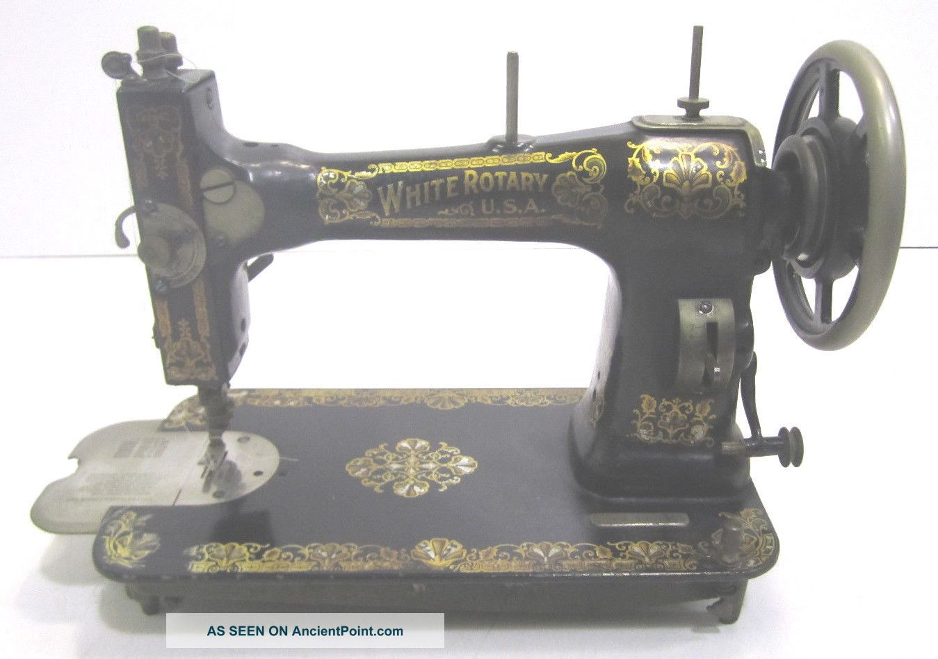 Vintage White Rotary Treadle Table Sewing Machine Patent 1911 Serial Fr2251687 Sewing Machines photo