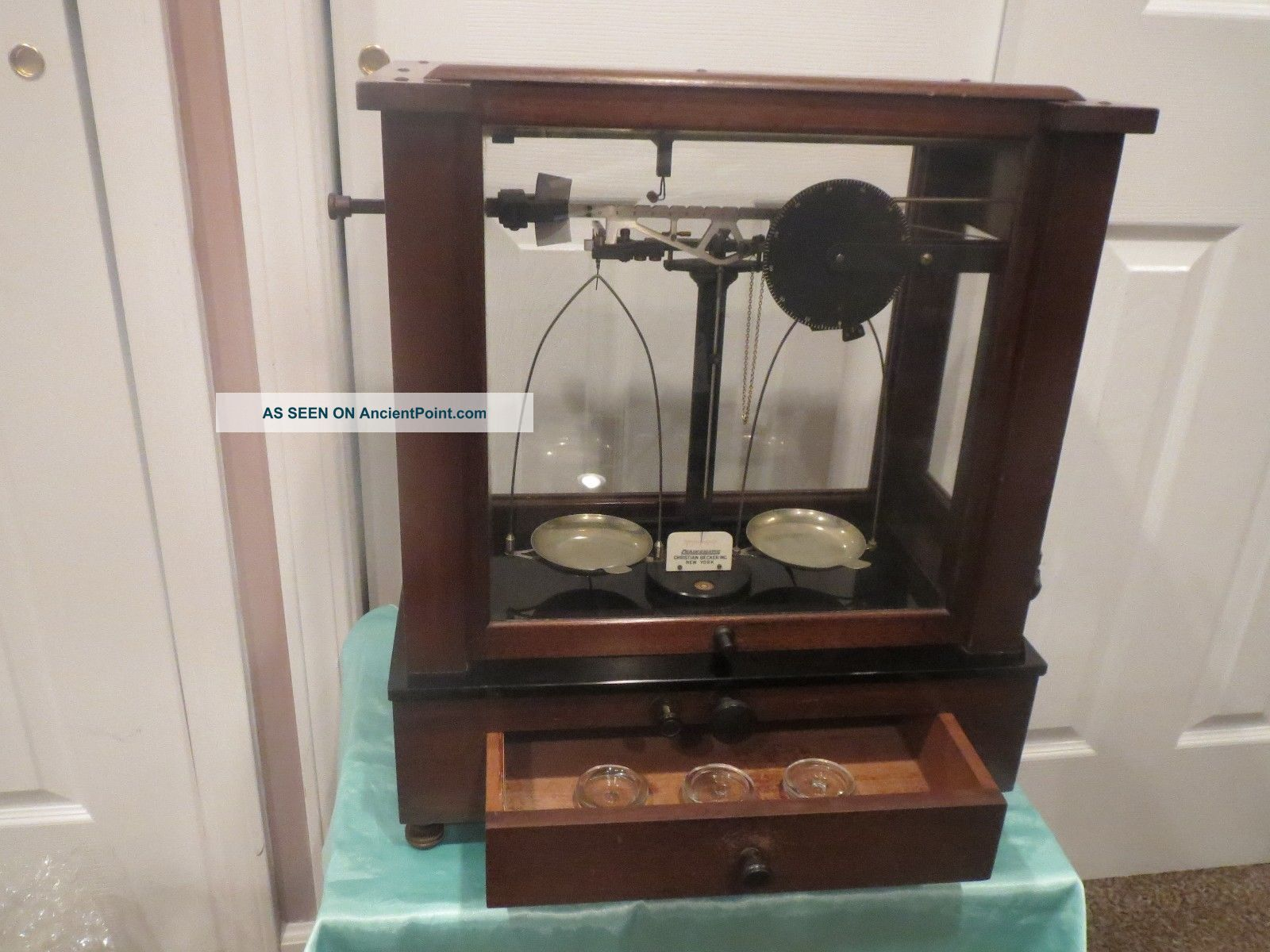 Christian Becker Vintage Chainomatic Jeweler Balance Analytical Apothecary Scale Scales photo