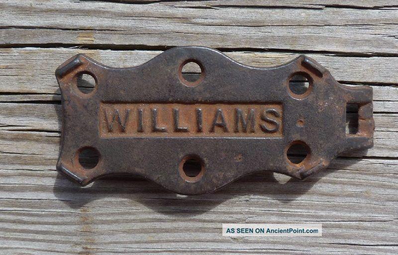 Antique Cast Iron Williams Trivet Trivets photo