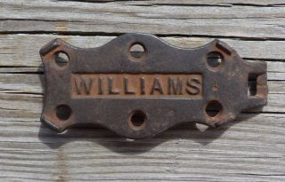 Antique Cast Iron Williams Trivet photo