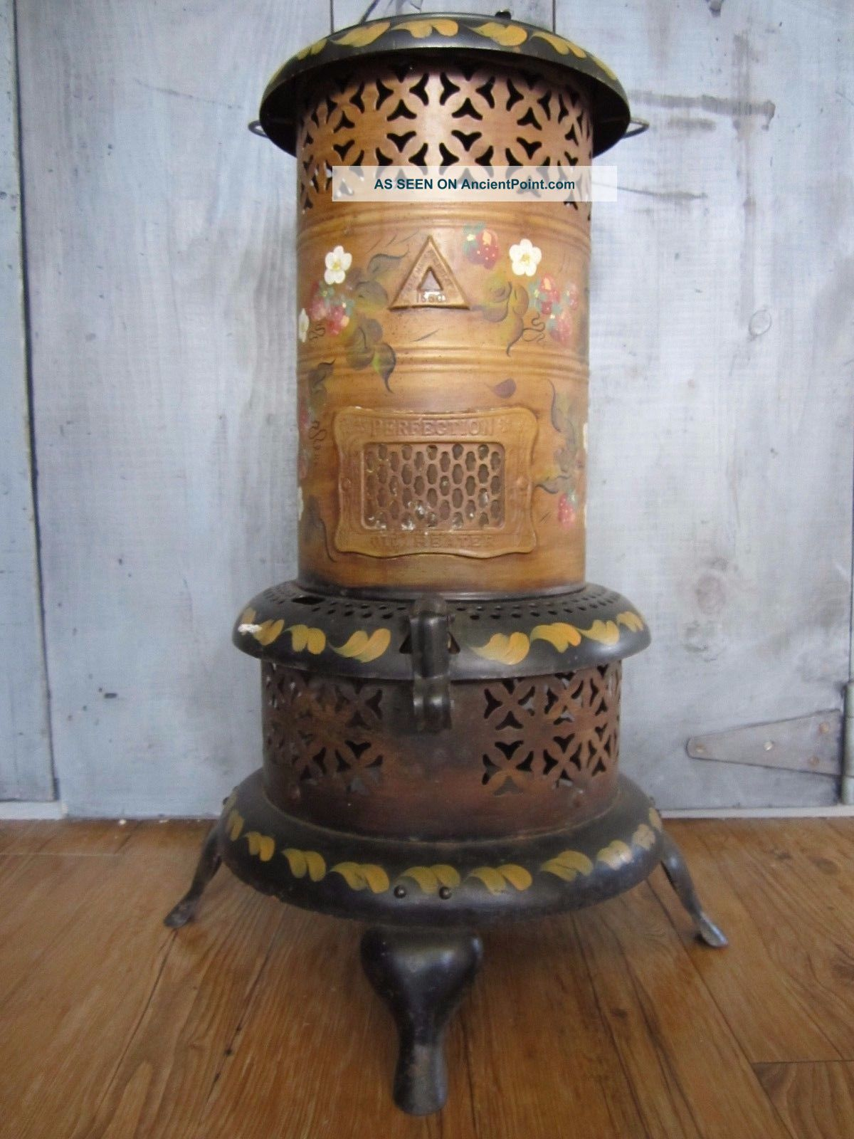 Vintage Perfection 1550 Smokeless Oil Kerosene Heater Hand Painted Made In Usa Stoves photo