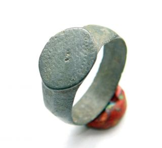 Ancient Medieval Ornament Bronze Finger Ring (may33) photo