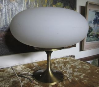 Vintage Mid Century Modern Lightcraft Of California Mushroom Ceiling Light 1966 photo