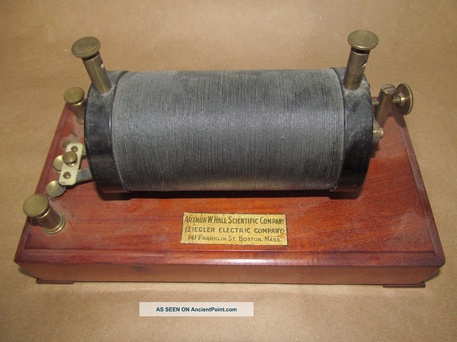 Antique Arthur W.  Hall Scientific Co.  Ziegler Induction Coil Laboratory Item Nr Engineering photo