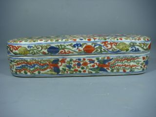 Chinese Porcelain Wu - Cai Of Box photo