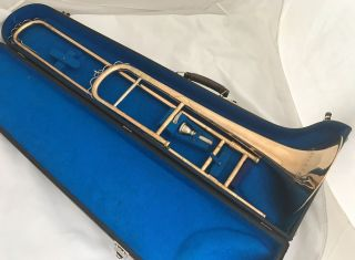 1900 ' S German Tenor Trombone In Bb Robert Schopper Leipzig Holiferant Gold Brass photo