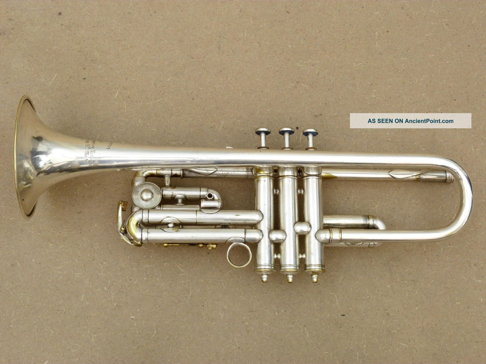 Antoine Courtois Bb/c,  A - Valve Silver Plated Trumpet Brass photo