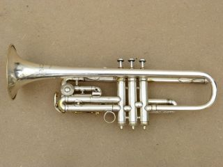 Antoine Courtois Bb/c,  A - Valve Silver Plated Trumpet photo