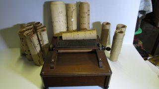 Antique 1800 ' S Mctammany Crank Organette Reed Roller Music Box Crank Organ photo