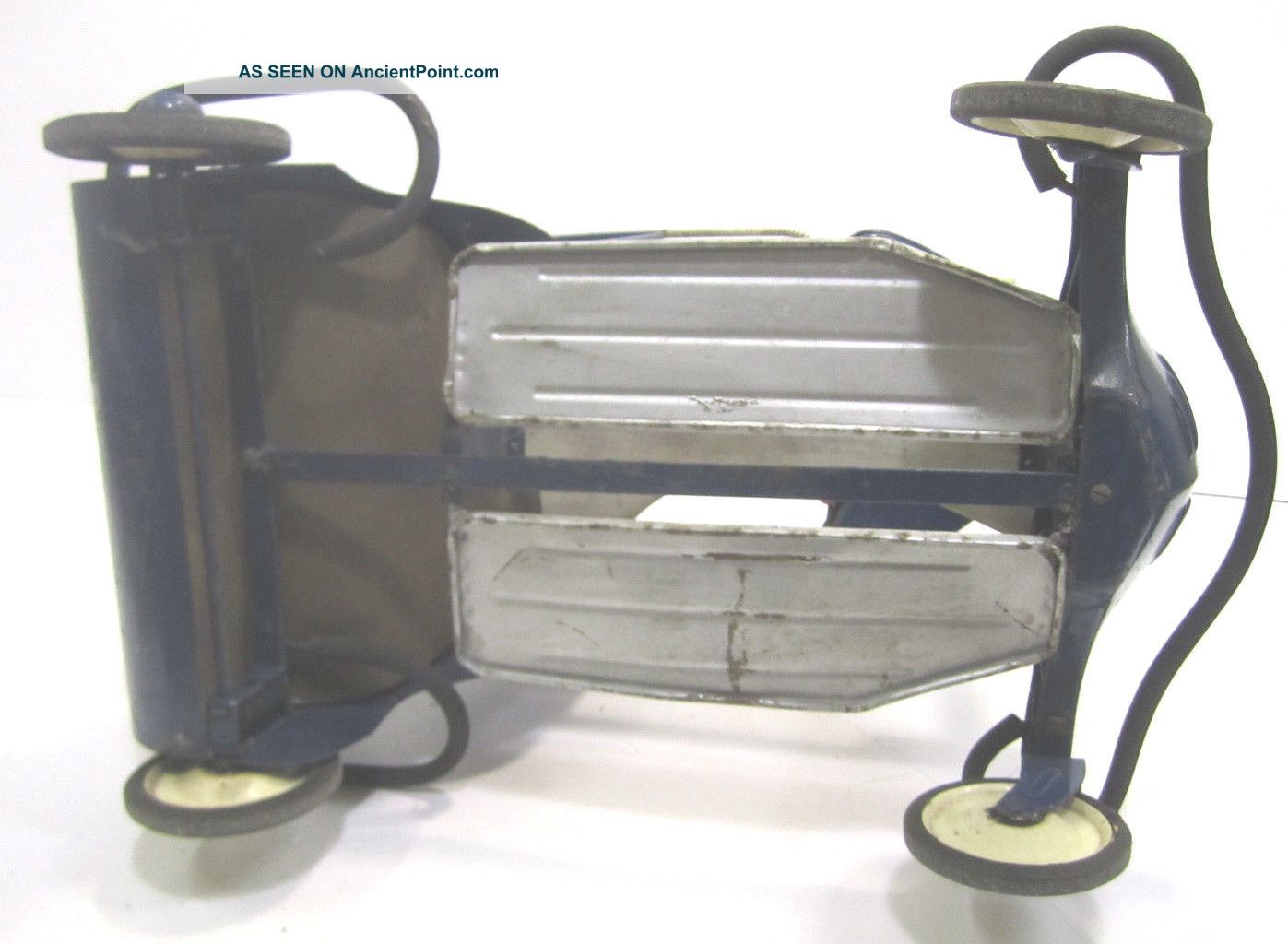 Vintage Taylor Tot Metal Baby Stroller Walker Blue White 1940s - 50s Baby Carriages & Buggies photo