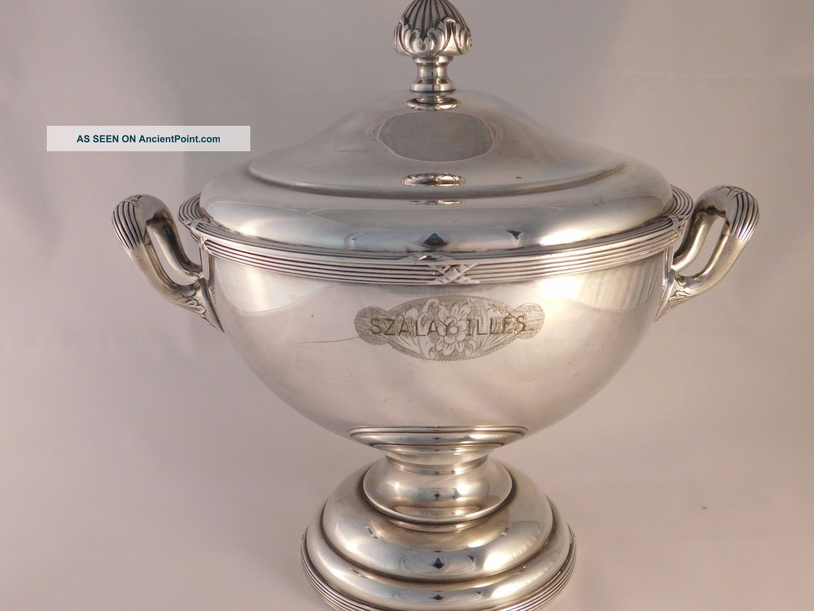 Wellner German Silver Art Nouveau Hotel Soup Tureen Circa 1910 Spectacular Other Antique Silverplate photo