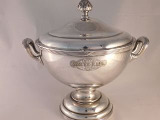 Wellner German Silver Art Nouveau Hotel Soup Tureen Circa 1910 Spectacular photo
