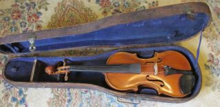 American Violin By Listed Maker Homer A.  Harvey,  Canandaigua,  Ny,  1953 - Nr photo