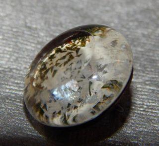 Antique Vintage Glass Button Kaleidoscope Green 329 - A photo