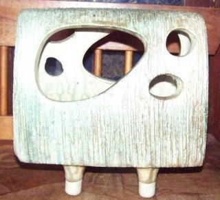 Japanese Mid Century Modernist Abstract Pottery Planter? Sgnd photo