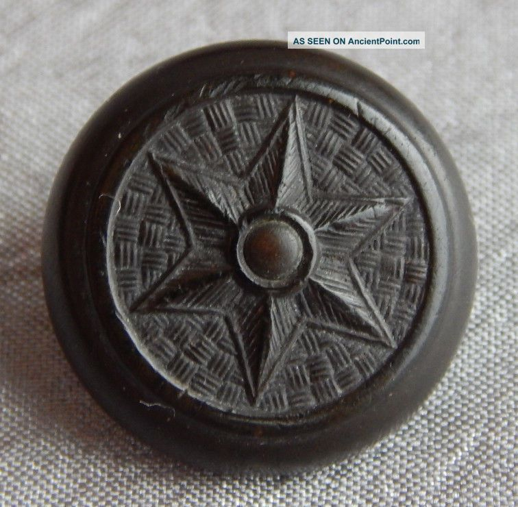 Vintage Goodyear Rubber Button Good Year C1851 Star 230 - B Buttons photo