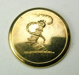 Antique Brass Livery Button - Armored Arm Holds A Serpent / Snake - 5/8 photo