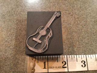 Printing Letterpress Printers Block Guitar Music photo