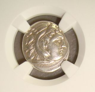 336 - 323 Bc Alexander Iii The Great Ancient Greek Silver Drachm Ngc Choice Vf photo