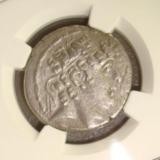 95 - 75 Bc Philip I Seleucid Kingdom Ancient Greek Silver Tetradrachm Ngc Vf photo