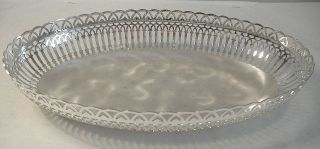 Silver Plated Oval Pierced Dish By Wmf - Ikora photo
