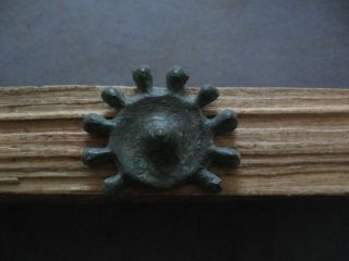 10 - Pointed Sun Form Ancient Celtic Bronze Proto Money 700 - 500 B.  C.  Unique photo
