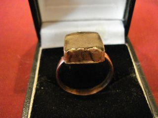 Ancient Roman Ring With ' Glass Stone ' - - Detector Find photo
