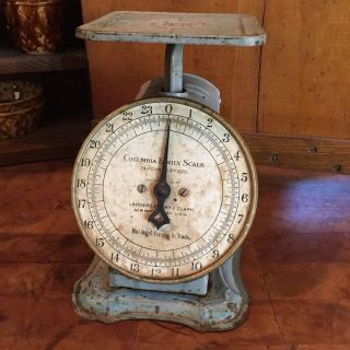 Antique Landers,  Frary And Clark Columbia Family Scale (0 - 24 Lbs) Pat: 4 - 16 - 1907 photo