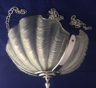 Art Deco Clam Shell Odeon Lightshade photo