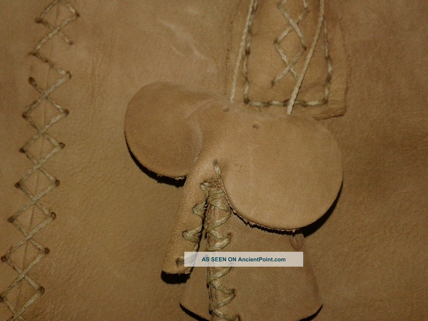 Tsonga Handbag From South Africa Handmade Suede With Whip Stitch Detail Other African Antiques photo