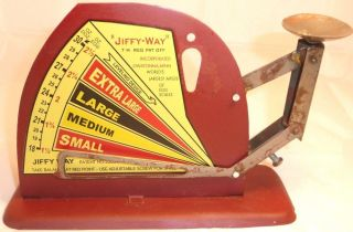 Brower Mfg Co Jiffy Way Egg Scale Owatonna Mn Retro Deco Egg Sizer Egg Selector photo