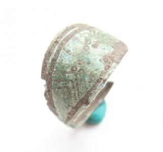 Ancient Old Viking Ornament Bronze Finger Ring (mja22) photo
