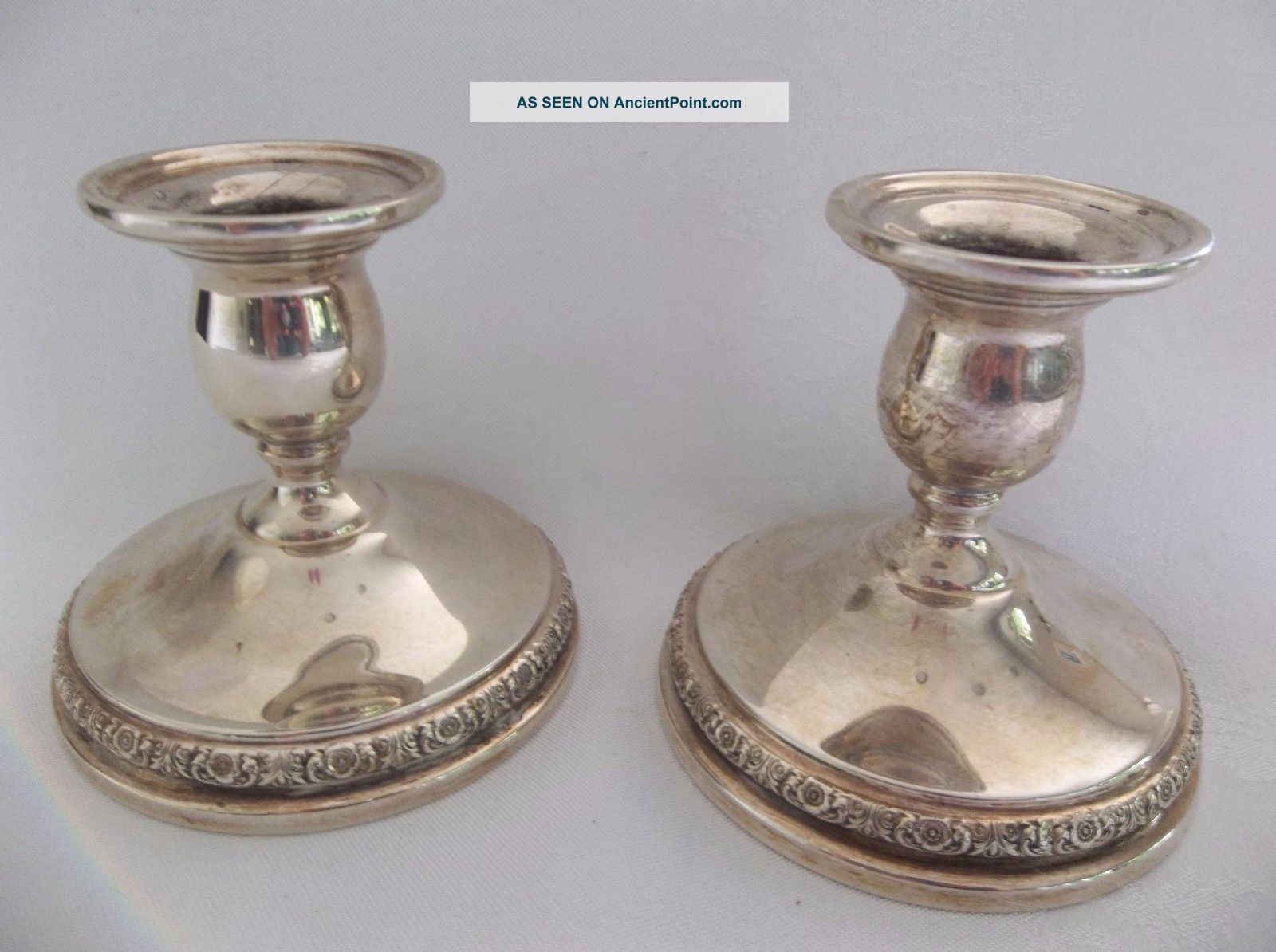 International Sterling Silver Prelude N212 Weighted Candle Holders Reinforced Candlesticks & Candelabra photo