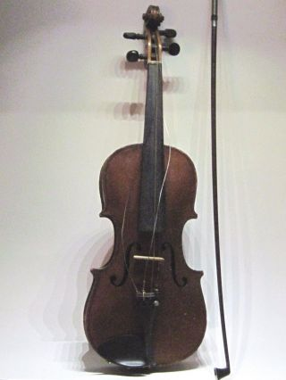 Antique Hopf Violin With Bow And Case photo