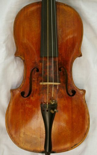 18th C.  Italian Labelled Violin Joseph Gratiani Fecit Genue 1761 photo