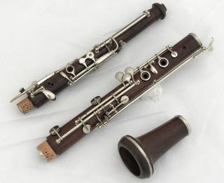 1870 Historical French Rosewood Oboe Triebert Paris System 5 Complete Restored photo