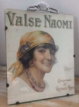 Rare Antique Art Deco 1920s Picture Photo Frame Valse Naomi Sheet Music Cover photo