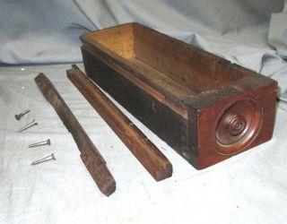 Antique Walnut Singer Treadle Sewing Machine Drawer,  Rails Family 12 12k 15 photo