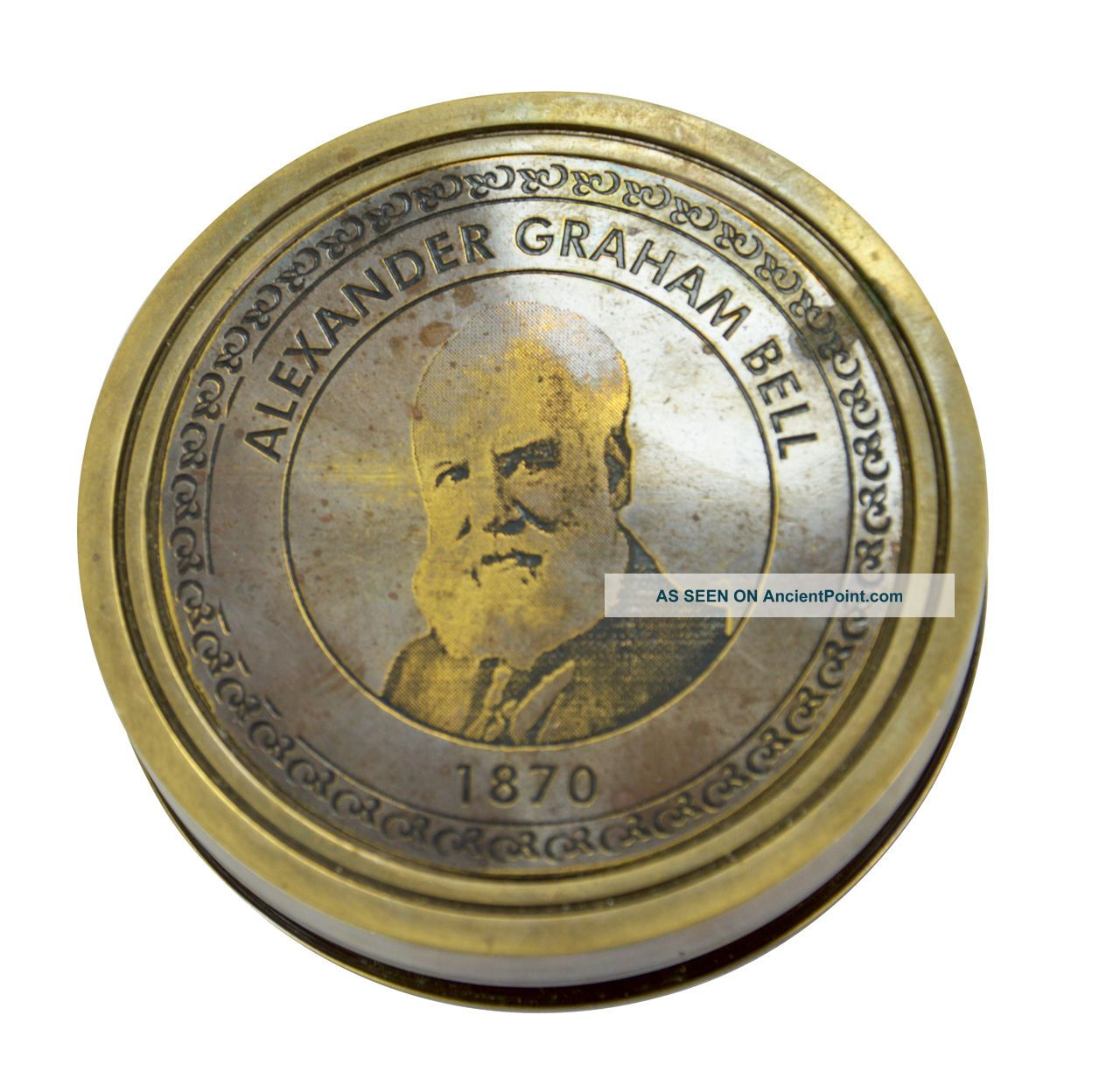 Handmade Marine Alexander Graham Bell 1870 Pocketcompass With His History Inside See more Handmade Marine Alexander Graham Bell 1870 Poc... photo