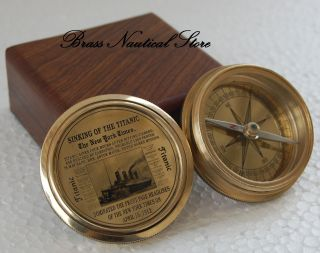 Poem Antique Style Brass Nautical Brass 1885 Poem Compass Collectible Gift @ photo