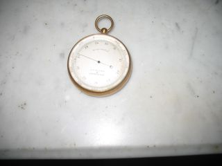 Antique Vintage Brass J.  J.  Hicks Compensated Pocket Barometer,  London England photo