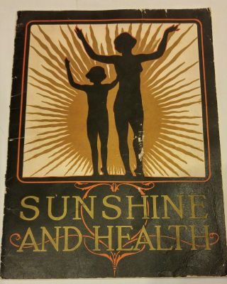 Quack Medicine Brochure Sunshine And Health,  Sunarc Bath Kellogg,  Battle Creek Mi photo