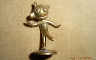 Antique Wiener Werkstatte Hagenauer Whw Bronze Miniature Figure Felix Cat 1 photo