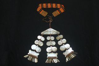 Isneg Igorot Philippines Chest / Neck Mother - Of - Pearl Ornament