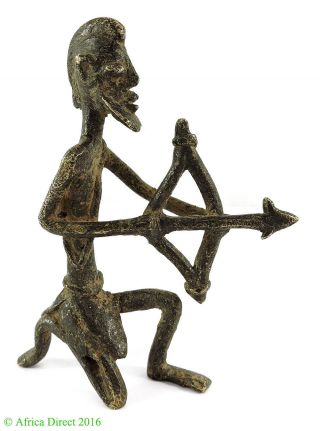Dogon Brass Archer Figurine Mali African Art Was $75.  00 photo