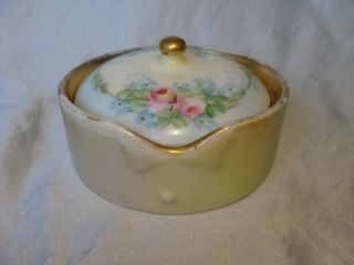 Larger Germany Porcelain Stud Collar Button Box Rosenthal German Bavaria photo