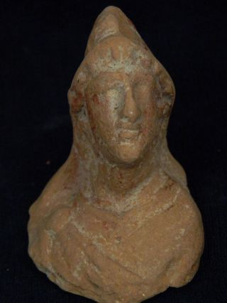 Ancient Teracotta Bust Roman C.  200 Bc Tr5887 photo